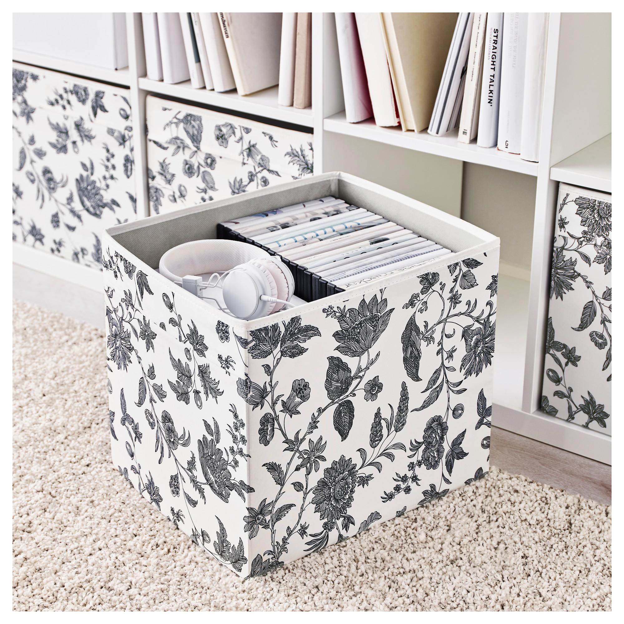 ikea dr na gebl mt schwarz wei fach box expedit kallax aufbewahrungsbox 4 st ck ebay. Black Bedroom Furniture Sets. Home Design Ideas