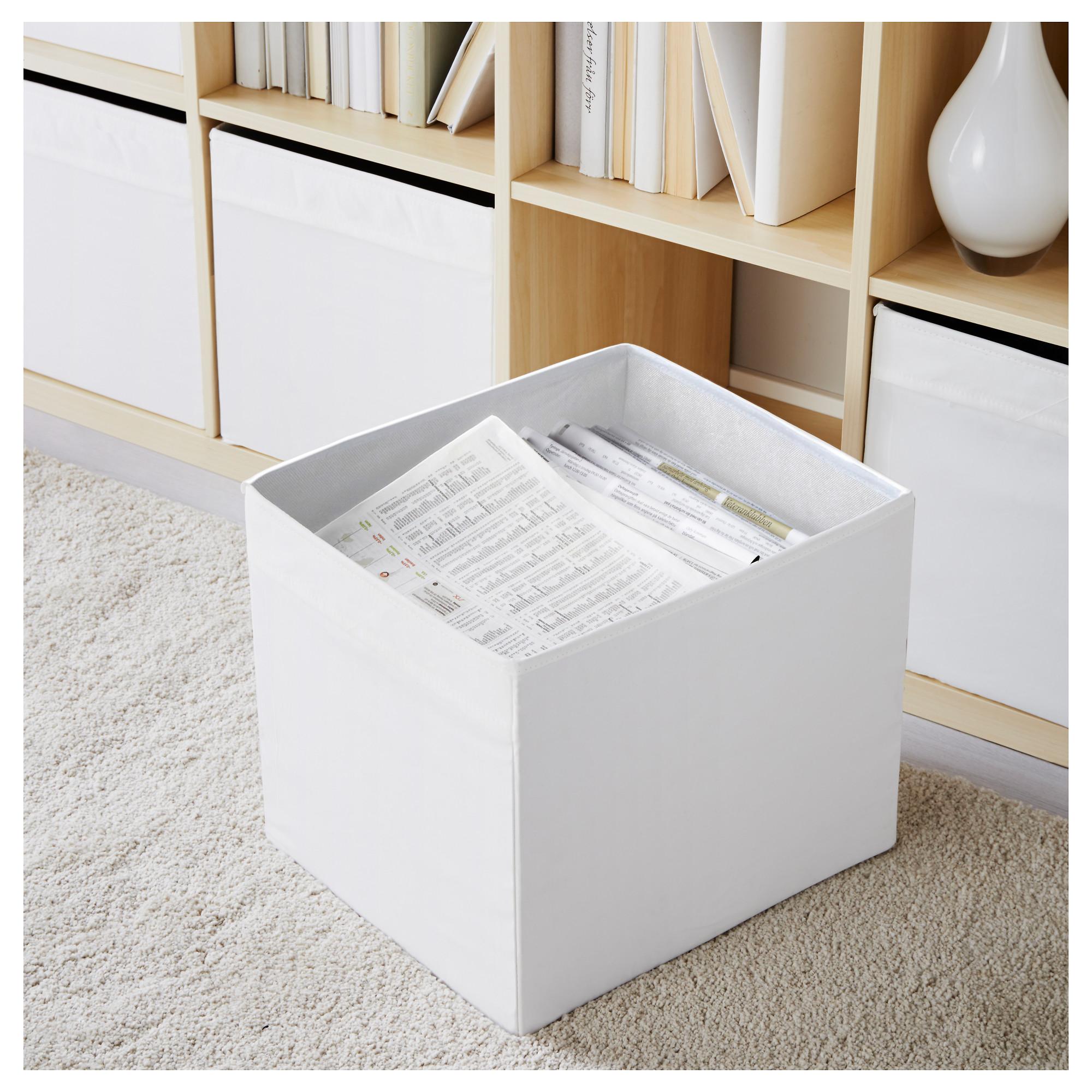 ikea dr na wei fach box expedit kallax regal aufbewahrungsbox kiste 4 st ck ebay. Black Bedroom Furniture Sets. Home Design Ideas