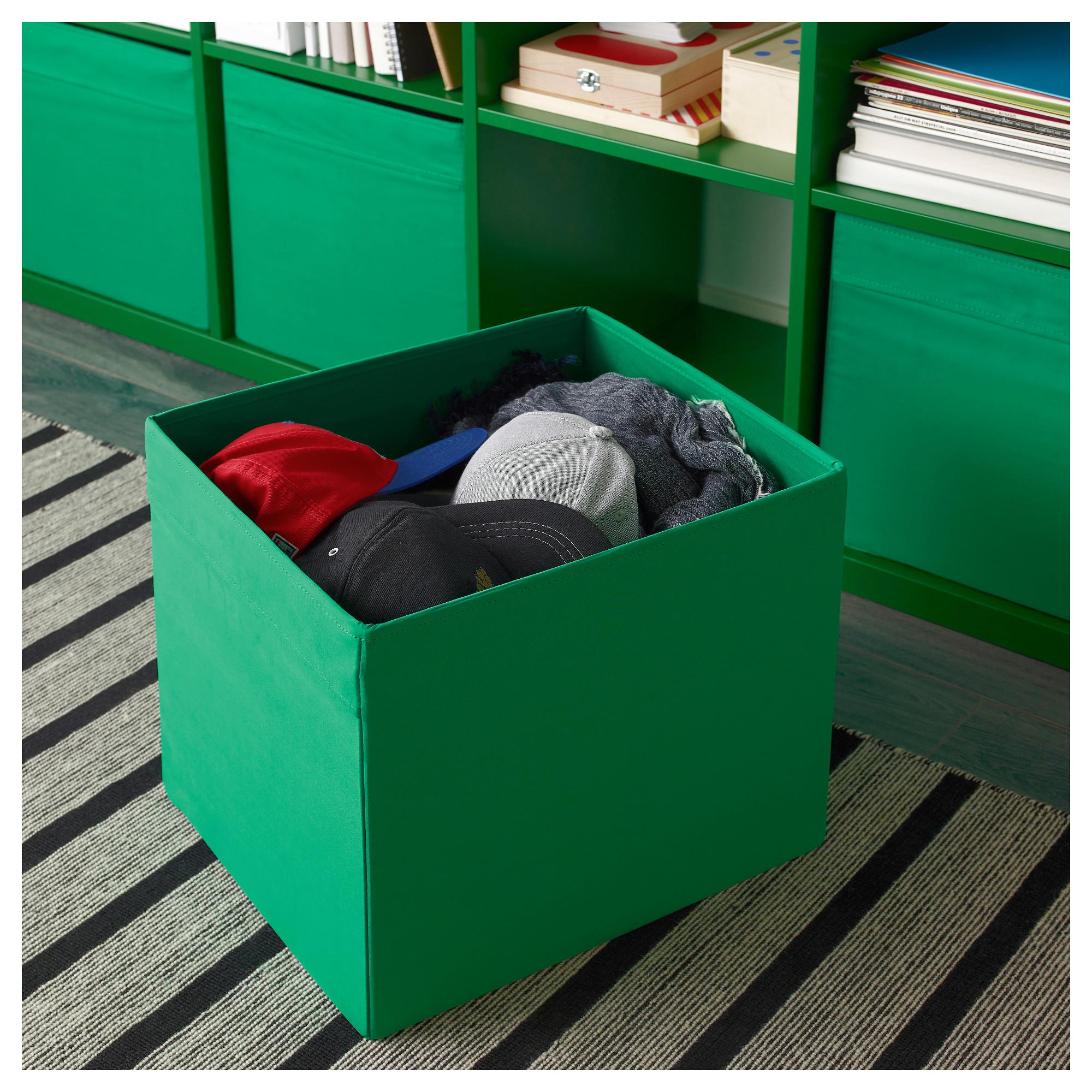 ikea dr na gr n fach box expedit kallax regal aufbewahrungsbox kiste 4 st ck ebay. Black Bedroom Furniture Sets. Home Design Ideas