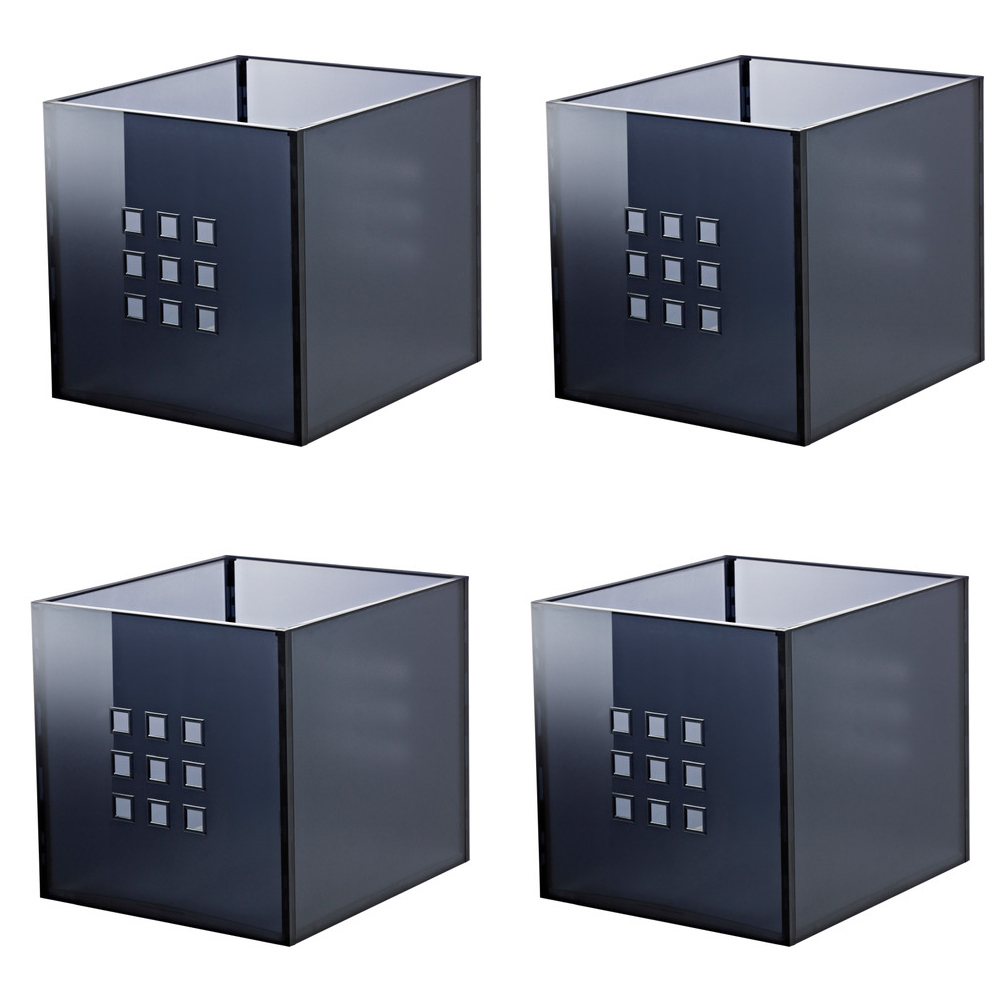 ikea lekman einsatz box fach dunkelgrau f r expedit kallax. Black Bedroom Furniture Sets. Home Design Ideas